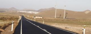 El Cabildo de Lanzarote comienza la próxima semana la ejecución de las obras de mejora de asfalto y señalización de la carretera de Los Lirios a Conil (LZ-501)