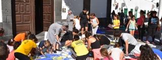 Arrecife vive este sábado su tradición de alfombras de sal por el Corpus