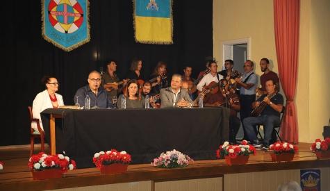Don Mingo Cedrés Dorta, emocionado en el pregón de las fiestas de Altavista, en Arrecife, en honor a San Antonio María Claret