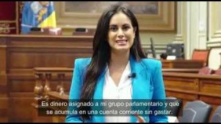 Vidina Espino solicita ayuda a través de un vídeo para que el Parlamento done a La Palma 200.000 euros del Grupo Mixto